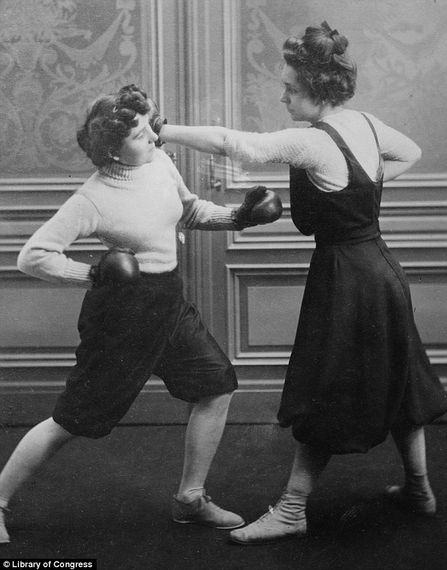 Mrs Edwards and Fraulein Kussin met in the boxing ring on 7 March 1912 (1)