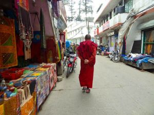 Monk-Walking-Down-The-Street-